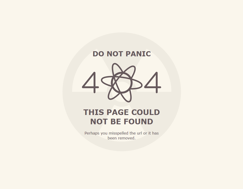 Atomの404エラーページ