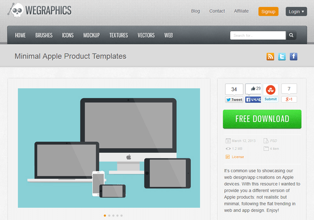 Minimal Apple Product Templates