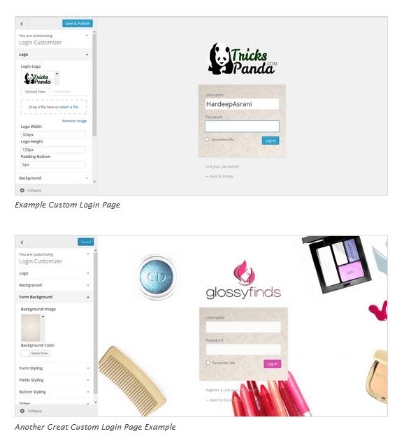 ロゴや背景、フォーム背景などをプレビューしながら簡単に変更できます。 https://ja.wordpress.org/plugins/login -customizer/